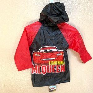Lighting McQueen cars rain coat